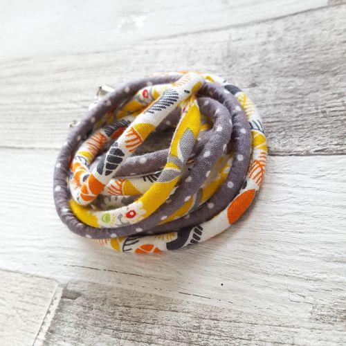 Citrom/narancs/szürke nyaklűnc-karkötő