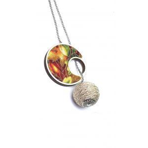 Átbújtatós nyaklánc vibráló őszi színekkel