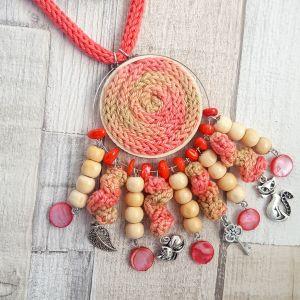 Naplemente - hosszú, fesztivál nyaklánc charmokkal