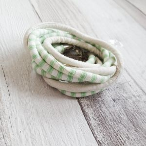 Zöld/krém nyaklánc-karkötő