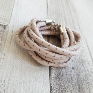 Vintage barna pöttyös nyaklánc-karkötő
