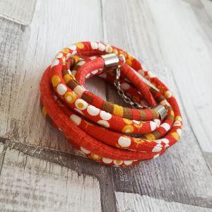 Narancs, piros, barna nyaklánc karkötő