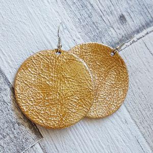 Meleg arany bőr fülbevaló -  alapdarab