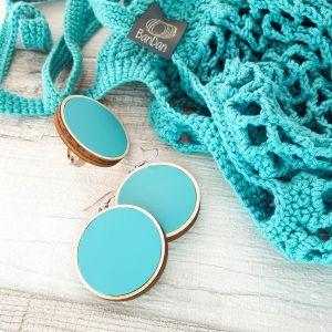 Cekker - színében hozzá passzoló ékszerekkel, ajándék gyűrűvel  - türkiz
