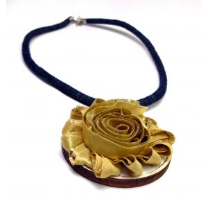 Arany rózsa farmer nyaklánc résszel - design nyaklánc
