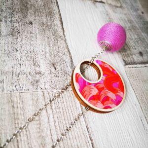 Átbújtatós nyaklánc narancs lila pink tűz