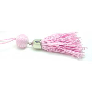 Bojtos nyaklánc pasztell rózsaszín