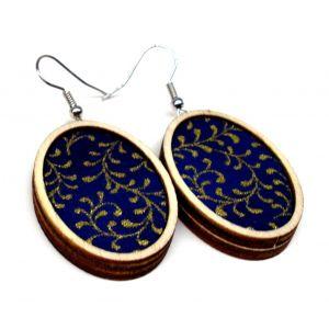 Aranyág kék- design fülbevaló