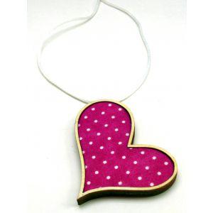 Pink szív - design ékszer