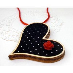 Fekete erdő, piros rózsa - design ékszer