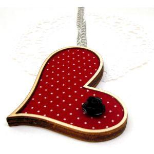Piros erdő, fekete rózsa - design nyaklánc