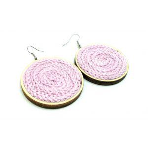 Fülbevaló kötött pasztell rózsaszín