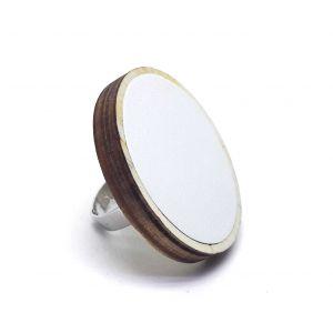 Fehér bőr gyűrű