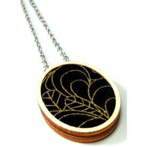 Fekete-arany design nyaklánc