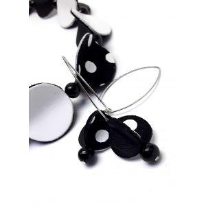 Vagány fekete-fehér bőr design ékszerszett