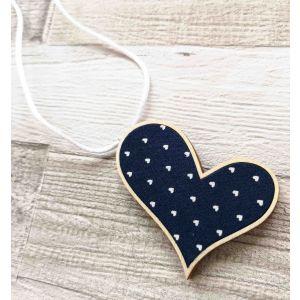 Ferde szív nyaklánc - navy szívecskés