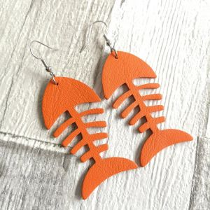 Fishbone narancs fülbevaló