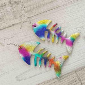 Fishbone színes foltos fülbevaló