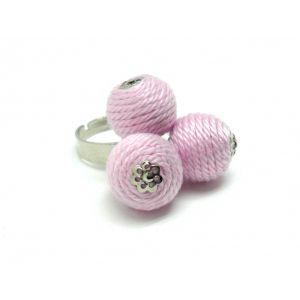 Golyós gyűrű pasztell rózsaszín