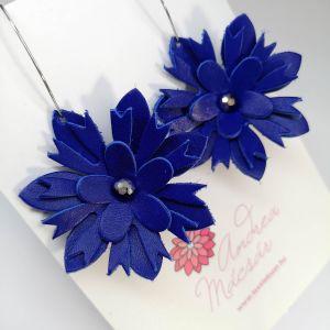 Kék virág bomba fülbevaló