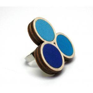 Hármas ombre gyűrű TÖBB színben