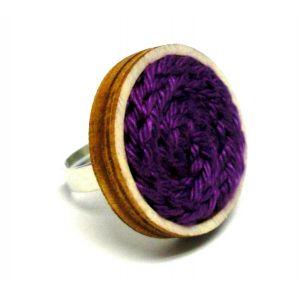 Kötött gyűrű - lila