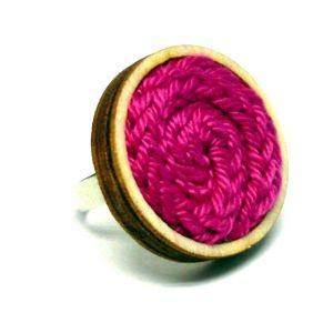 Kötött gyűrű - pink