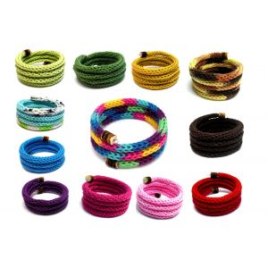 Kötött memória karkötők - választható színekben