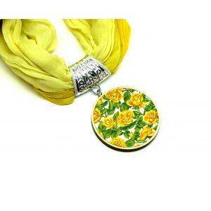 Sárga rózsás kendő