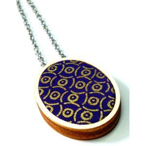 Lila arany design nyaklánc