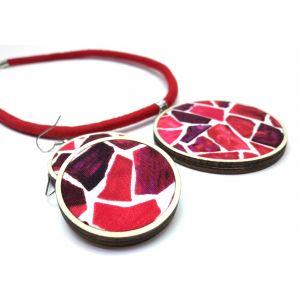 Mozaik mintás ékszerszett - nyaklánc és fülbevaló