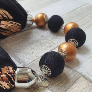 Rosegold - fekete golyós körkendő