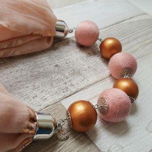 Rózsaszín - rosegold golyós körkendő