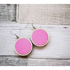 Egyszínű rózsaszínű classic fülbevaló.