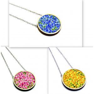 Kis virágos nyaklánc választható színekben