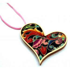 Arany virág - design nyaklánc szív forma