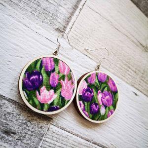 Tulipán classic 4 cm fülbevaló