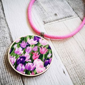 Tulipán classic nyaklánc rózsaszín