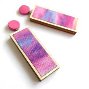 Woodstock bedugós pink fülbevaló
